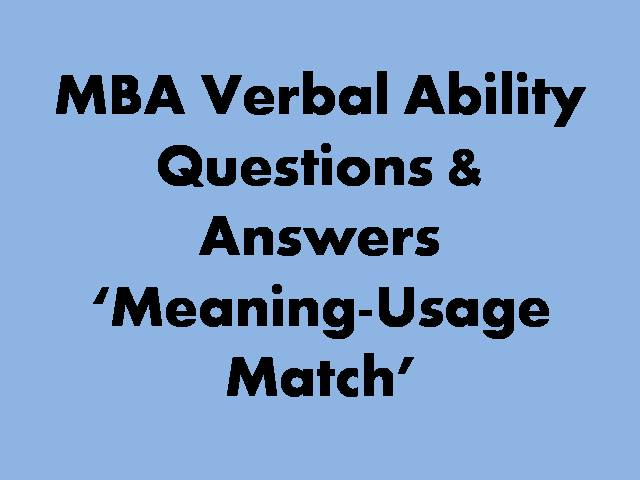 MBA Meaning Usage Match
