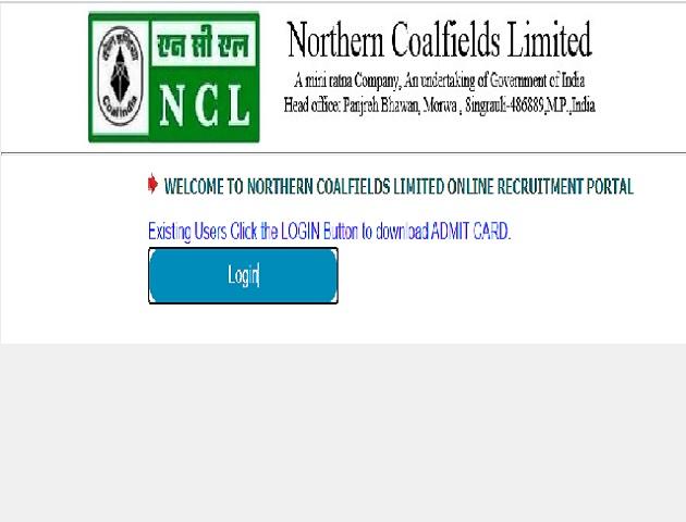 NCL Admit Card 2020