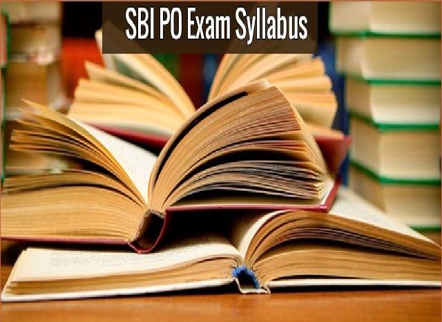 SBI PO Exam Syllabus
