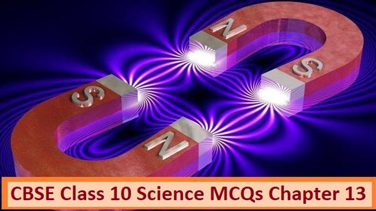 CBSE Class 10 Science MCQs Chapter 13 Magnetic Effects of Electric Current