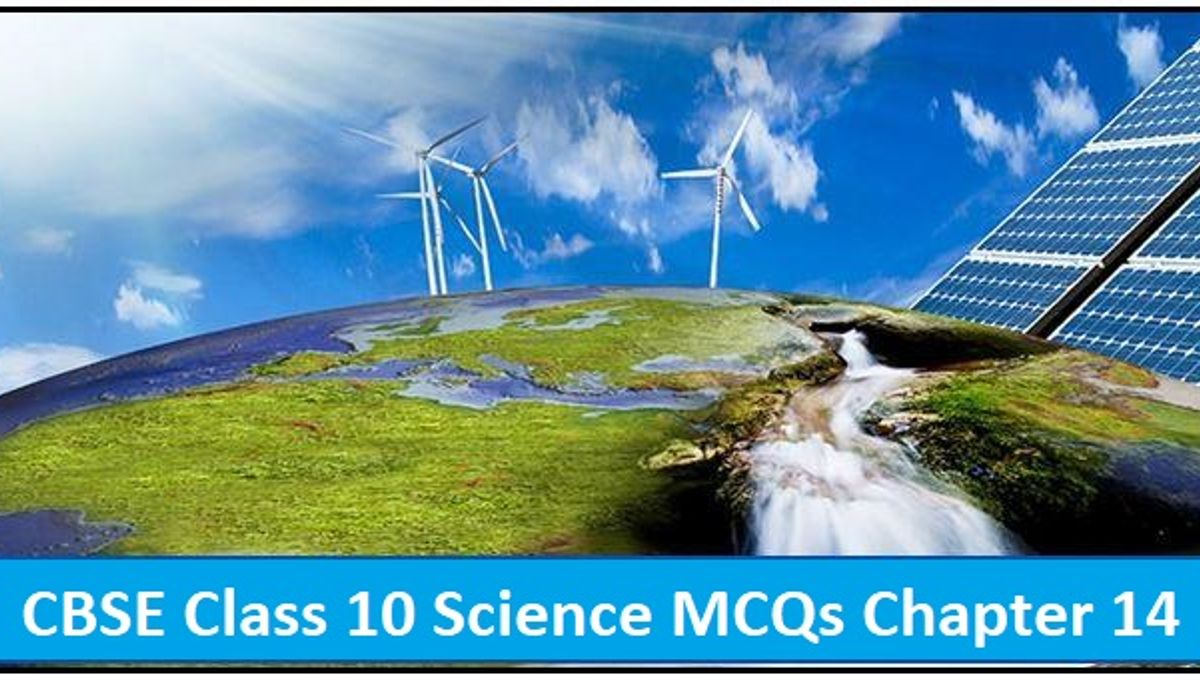 CBSE Class 10 Science MCQs Chapter 14 Sources of Energy