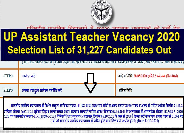 UP Teacher Recruitment 2020