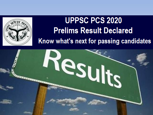 UPPSC PCS Result 2020