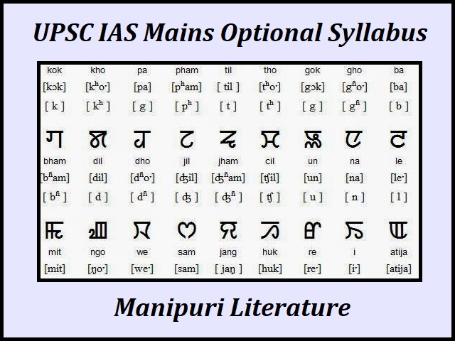 UPSC IAS Mains 2020: Manipuri Literature Optional Syllabus