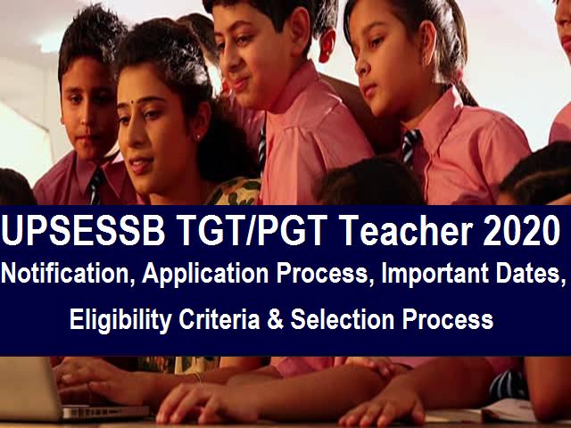 UPSESSB teacher recruitment 2020