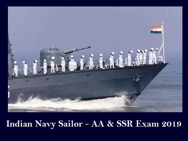 Indian Navy Recruitment 2019 (Sailor AA & SSR)