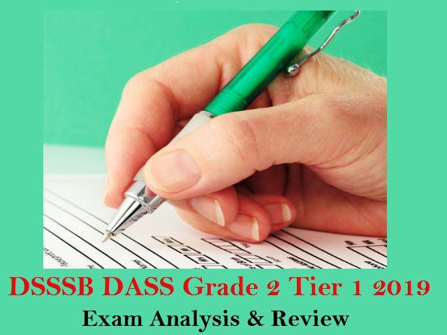 DSSSB DASS Grade 2 Tier 1 2019