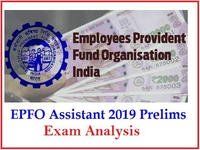 EPFO Assistant 2019 Exam Analysis