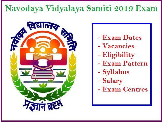NVS 2019 PGT, TGT, AC, LDC Exam