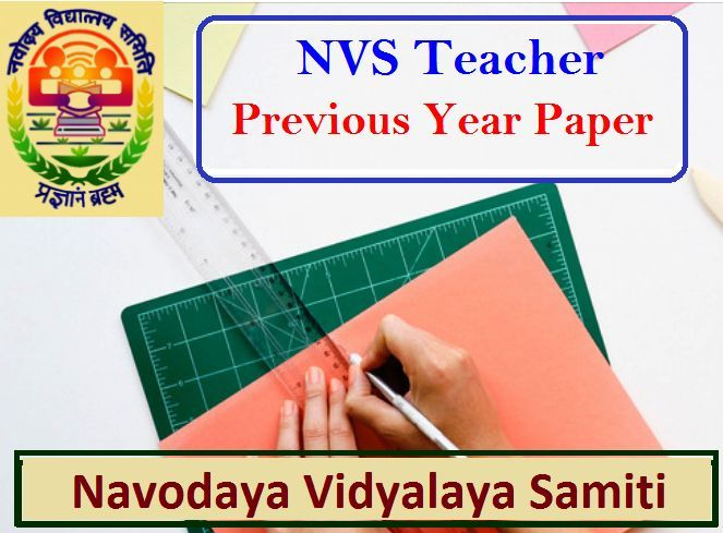 NVS Previous Year Question Paper