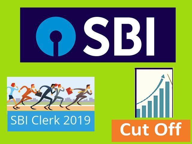 SBI Clerk Prelims 2019 Cut off