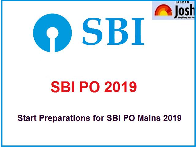 SBI PO Prelims 2019