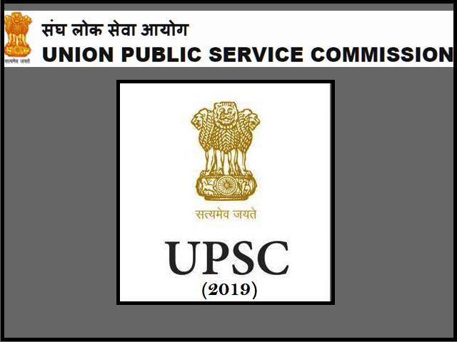UPSC Civil Services IAS 2019 Exam