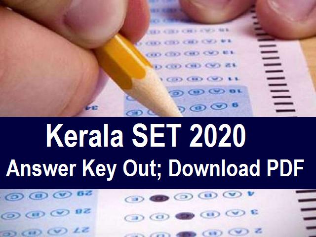 Kerala SET Answer Key 2020