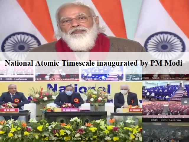 National Atomic Timescale inaugurated by Prime Minister Modi