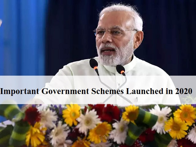 Government Schemes Launched in 2020