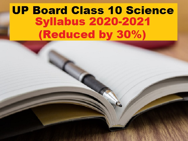 UP Board Class 10 Science Reduced Syllabus 2020-21