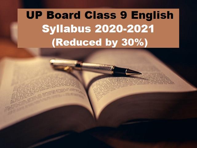 UP Board Class 9 English Reduced Syllabus 2020-21