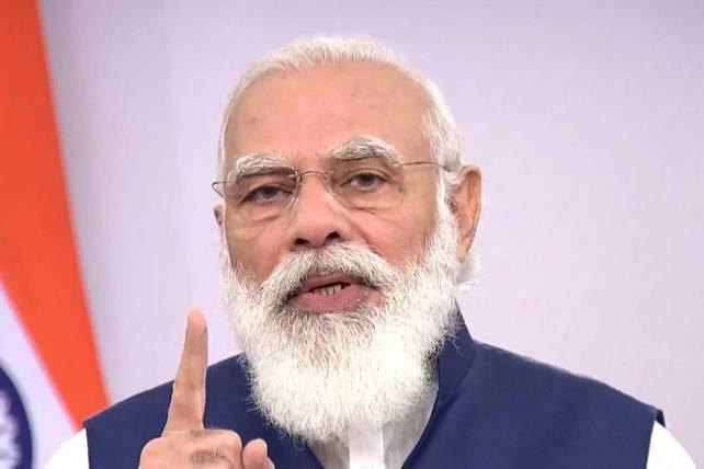 PM Modi lays foundation stone of AIIMS Rajkot in Hindi