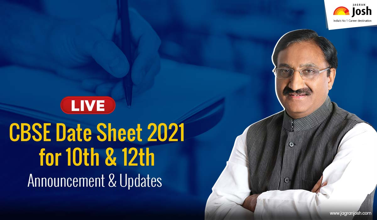 CBSE 10th & 12th Date Sheet 2021: Official Announcement By Union Education Minister Ramesh Pokhriyal 'Nishank' Via Twitter Live