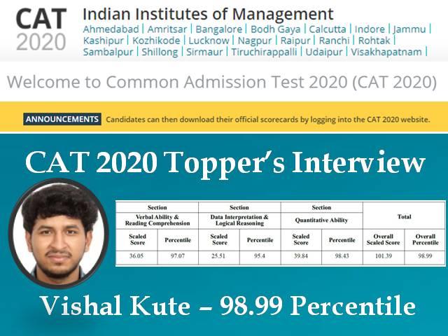 CAT 2020 TOPPER VISHAL