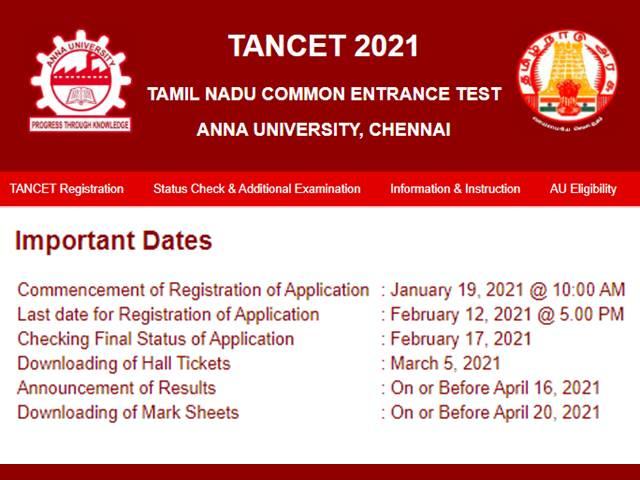 TANCET 2021 Registrations