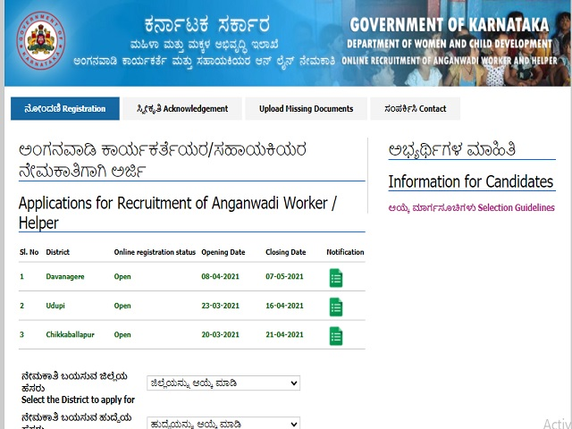 WCD Davanagere Recruitment 2021: Apply 80 Anganwadi Worker & Anganwadi Helper Posts