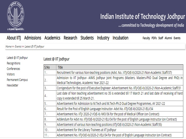 Apply Online for 50 Non Teaching Posts before 11 May