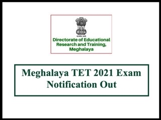 Meghalaya TET 2021 Notification Out Exam on August 28
