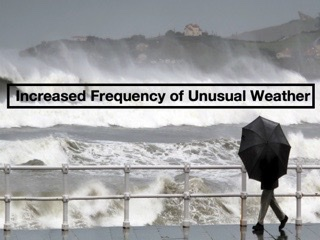 Increased Frequency of Unusual Weather Conditions Worldwide