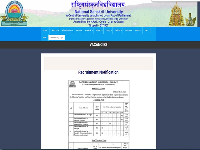 Apply for 10 Teaching and Non Teaching Staff Posts