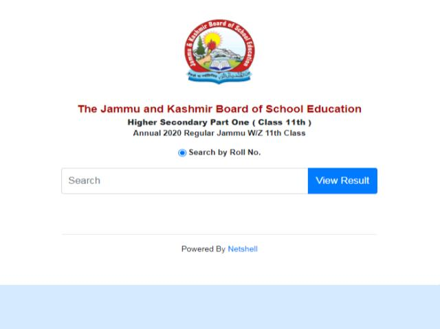 JKBOSE class 11 examination results jammu division