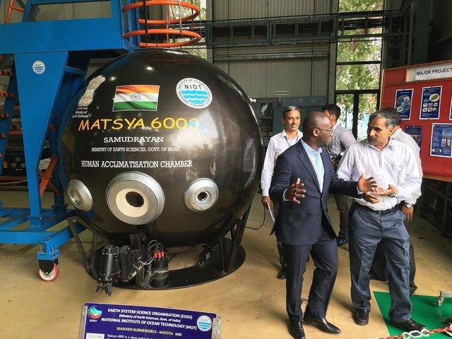 Deep Ocean Mission Submersible Matsya-6000, Twitter/Dept for BEIS
