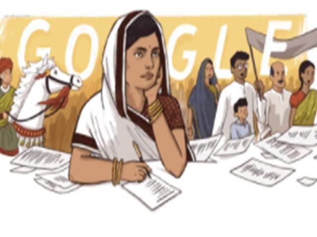 Subhadra Kumari Chauhan's doodle, Source: Google