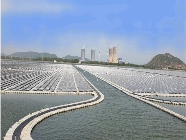 India's largest floating solar PV project, Andhra Pradesh, Twitter/NTPC