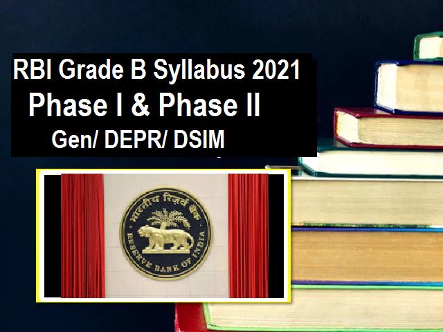 RBI Grade B Syllabus and Exam Pattern 2021
