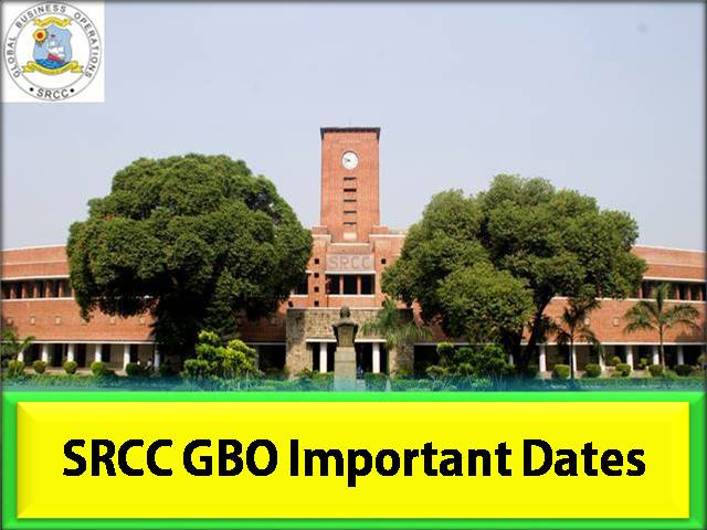 SRCC GBO 2021 Important Dates