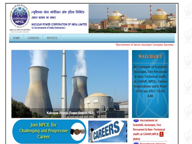 NPCIL Recruitment 2021: Apply for Assistant, Stenographer, Scientific Assistant and Other Posts