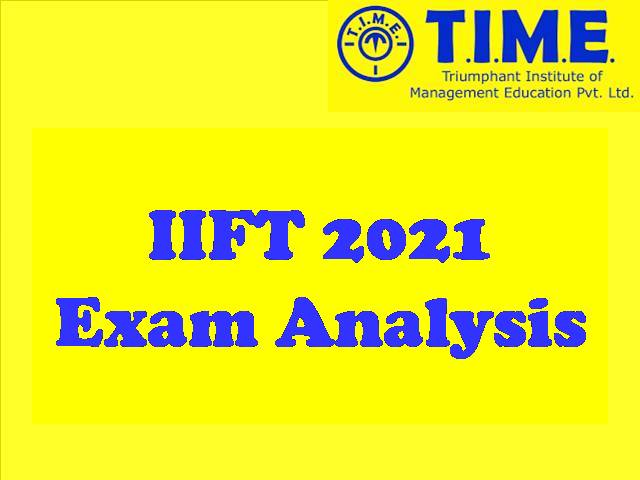 IIFT 2021 Exam Analysis by TIME