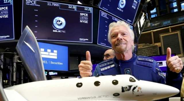 Virgin Galactic's Richard Branson becomes first billionaire to fly into space