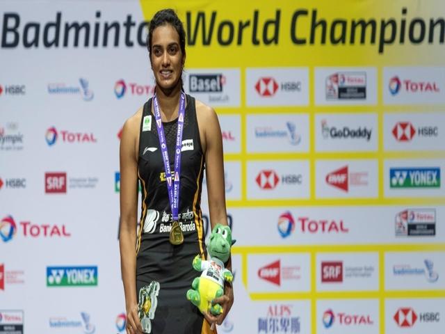 P V Sindhu at BWF World Championships 2019, Source: AP