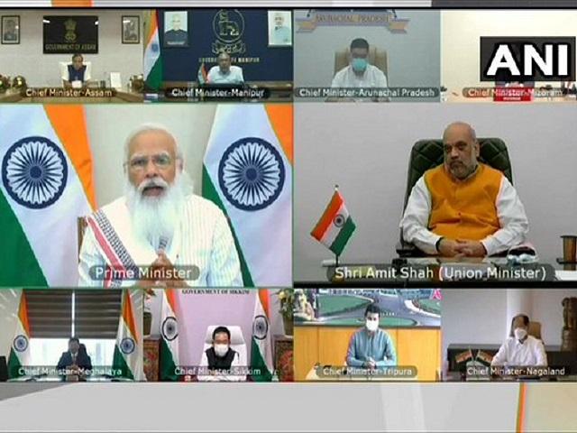 PM Narendra Modi meets North-East CMs
