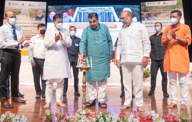 Union Minister Nitin Gadkari lays foundation stone for 16 national highway projects in Manipur