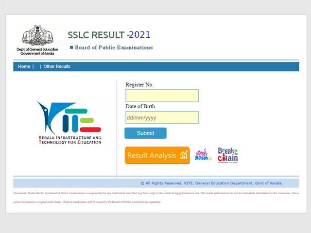 Kerala 10th results 2021