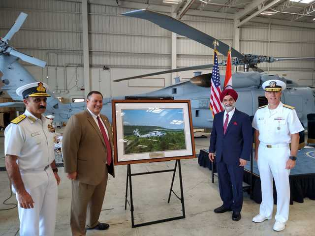 MH-60R helicopters ceremony, Twitter/ Taranjit Singh Sandhu