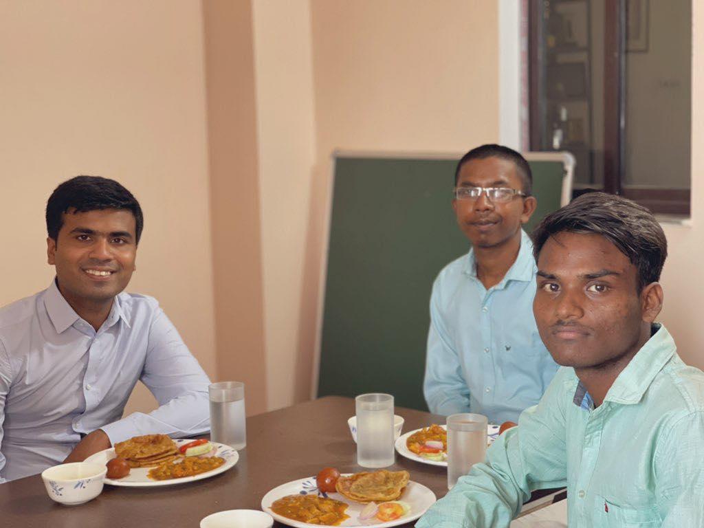 Gautam and Anoj with Dexterity CEO Shri Sharad Sagar