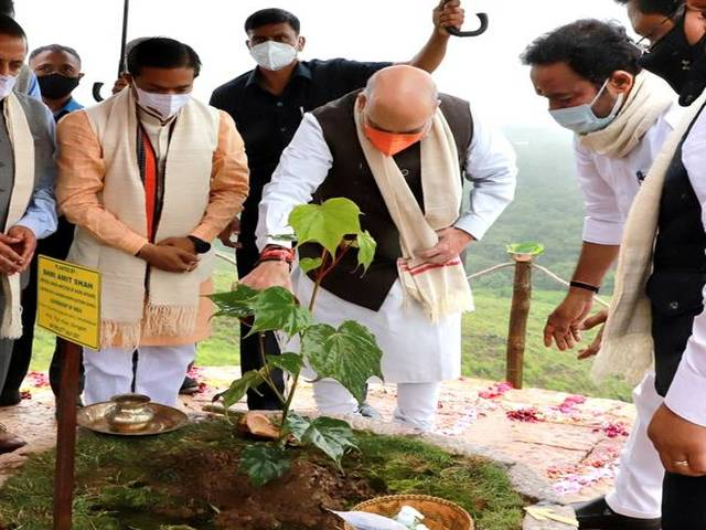 Home Minister Amit Shah, Green Sohra Afforestation Campaign, Source: PIB