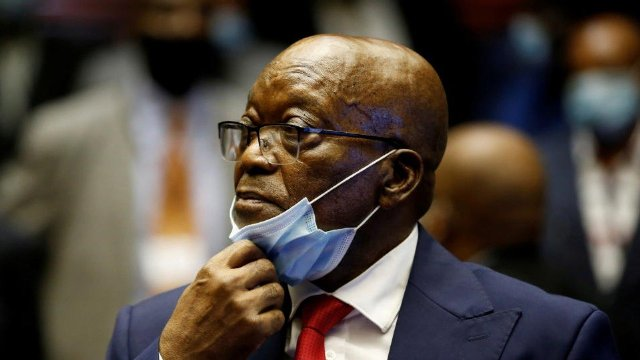 Former South African president Jacob Zuma sentenced to 15 months in jail
