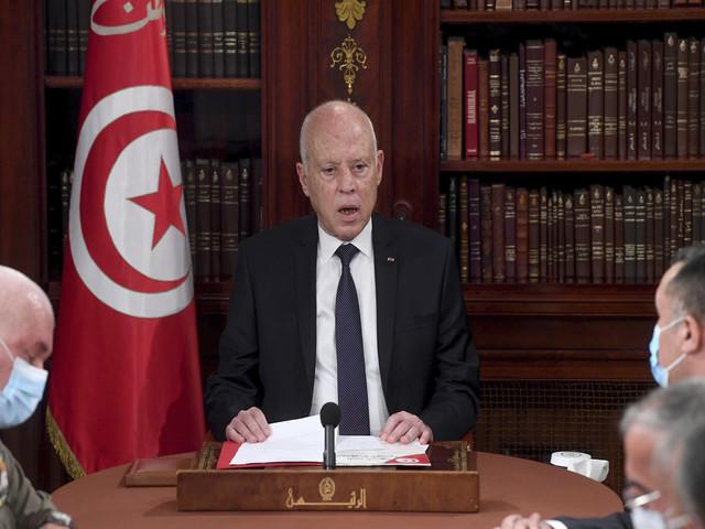 Tunisia's President Kais Saied, Source: AP