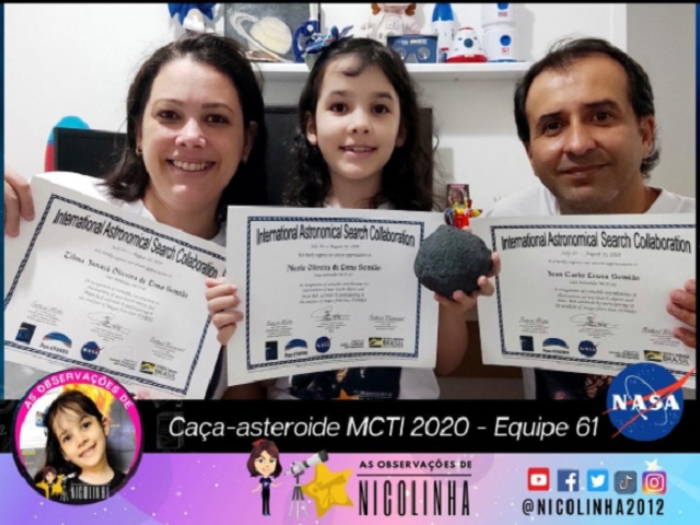 World's Youngest Astronomer: Meet Nicole Oliviera, a seven-year-old Brazilian girl who discovered 7 asteroids for NASA